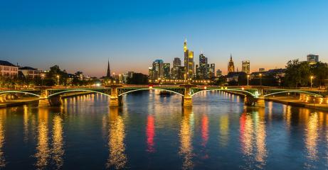 Frankfurt Skyline at sunset- Stock Photo or Stock Video of rcfotostock | RC-Photo-Stock