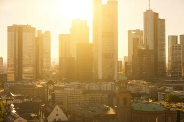 Frankfurt skyline late summer evening- Stock Photo or Stock Video of rcfotostock | RC-Photo-Stock