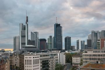 Frankfurt skyline view at a cloudy day- Stock Photo or Stock Video of rcfotostock | RC-Photo-Stock