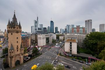 Frankfurt Skyline view with cloudy sky- Stock Photo or Stock Video of rcfotostock | RC-Photo-Stock