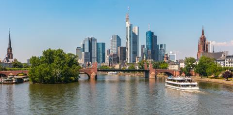 Frankfurt Sykline at summer, germany- Stock Photo or Stock Video of rcfotostock | RC-Photo-Stock