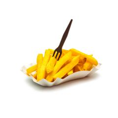 french fries in a shell with fork : Stock Photo or Stock Video Download rcfotostock photos, images and assets rcfotostock | RC-Photo-Stock.: