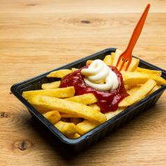 french fries red - white - Stock Photo or Stock Video of rcfotostock | RC-Photo-Stock
