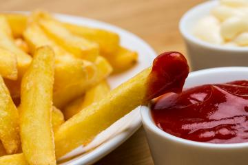 French fries with ketchup and mayo- Stock Photo or Stock Video of rcfotostock | RC-Photo-Stock