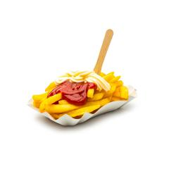 French fries with ketchup and mayonnaise : Stock Photo or Stock Video Download rcfotostock photos, images and assets rcfotostock | RC-Photo-Stock.: