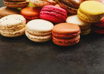 french sweet delicacy, macaroons variety, including copy space- Stock Photo or Stock Video of rcfotostock | RC-Photo-Stock