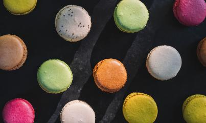 Fresh  Macarons, or macaroons - Stock Photo or Stock Video of rcfotostock | RC-Photo-Stock
