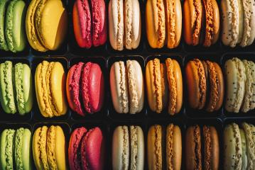Fresh bright colored Macarons, or macaroons. Different colorful macaroons in Tasty sweet color - Bakery concept image : Stock Photo or Stock Video Download rcfotostock photos, images and assets rcfotostock | RC-Photo-Stock.: