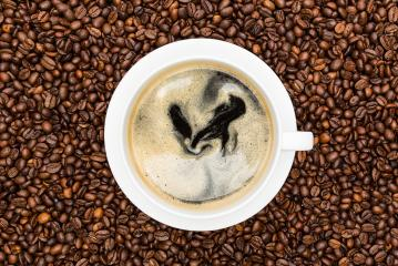 fresh coffee in a white cup- Stock Photo or Stock Video of rcfotostock   RC-Photo-Stock