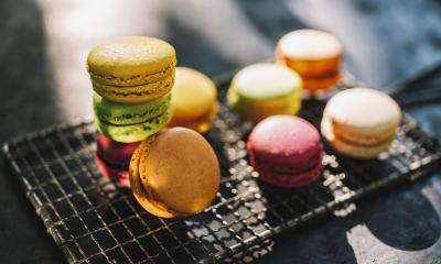 Fresh colored Macarons, or macaroons on a old Cooling Rack at a summer day : Stock Photo or Stock Video Download rcfotostock photos, images and assets rcfotostock | RC-Photo-Stock.: