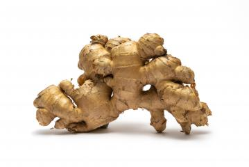 Fresh ginger on white background, herb medical concept- Stock Photo or Stock Video of rcfotostock | RC-Photo-Stock