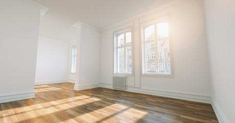fresh renovated room with wooden oak floor, white walls and window : Stock Photo or Stock Video Download rcfotostock photos, images and assets rcfotostock | RC-Photo-Stock.: