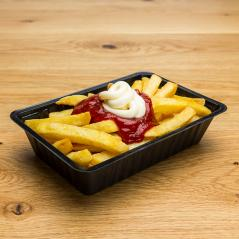 fries with ketchup and mayonnaise : Stock Photo or Stock Video Download rcfotostock photos, images and assets rcfotostock | RC-Photo-Stock.: