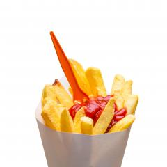 fries with ketchup on white : Stock Photo or Stock Video Download rcfotostock photos, images and assets rcfotostock | RC-Photo-Stock.: