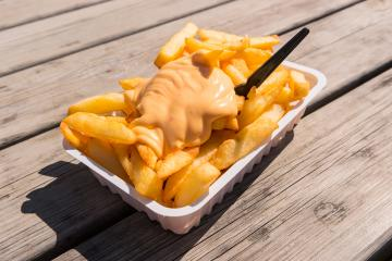 Fries with Sauce Andalouse- Stock Photo or Stock Video of rcfotostock | RC-Photo-Stock