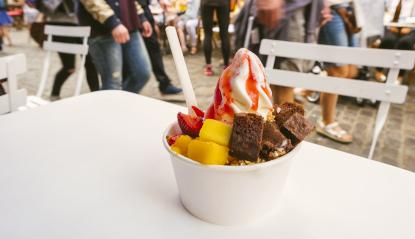 frozen yoghurt with toppings - Stock Photo or Stock Video of rcfotostock | RC-Photo-Stock