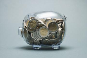 Full Piggy bank with euro coins : Stock Photo or Stock Video Download rcfotostock photos, images and assets rcfotostock | RC-Photo-Stock.: