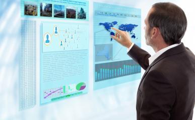 Futuristic Multi Touch Computer Panel- Stock Photo or Stock Video of rcfotostock | RC-Photo-Stock