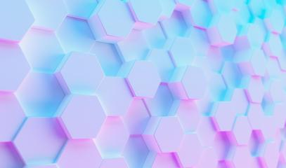 Futuristic Sci-Fi Modern hexagonal background with Purple And Blue Glowing Neon light, Wallpaper background- Stock Photo or Stock Video of rcfotostock | RC-Photo-Stock