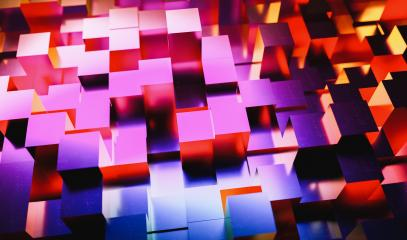 Gaming background of colorful neon light cubes- Stock Photo or Stock Video of rcfotostock | RC-Photo-Stock