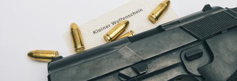 Gas gun with (Kleiner Waffenschein)- Stock Photo or Stock Video of rcfotostock   RC-Photo-Stock