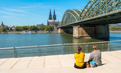 gay rcouple spending their time at the deutzer rhine boulevard in Cologne- Stock Photo or Stock Video of rcfotostock | RC-Photo-Stock