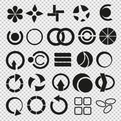 Geometric and popular, universal shapes vector set, collection on checked transparent background. Vector illustration. Eps 10 vector file.- Stock Photo or Stock Video of rcfotostock | RC-Photo-Stock