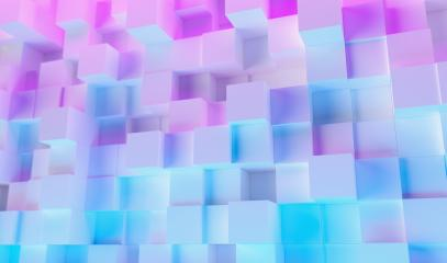 geometric cubes background with colorful bright neon uv blue and purple lights- Stock Photo or Stock Video of rcfotostock | RC-Photo-Stock
