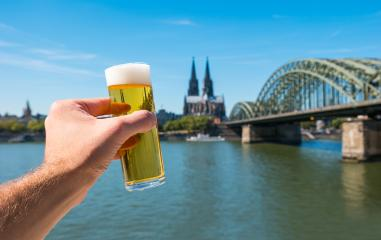 German beer (Kölsch) at Cologne at the rhine river Germany- Stock Photo or Stock Video of rcfotostock | RC-Photo-Stock