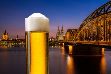 German beer (Kölsch) from Cologne at sunset : Stock Photo or Stock Video Download rcfotostock photos, images and assets rcfotostock | RC-Photo-Stock.: