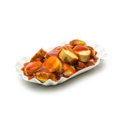 german currywurst isolated on white : Stock Photo or Stock Video Download rcfotostock photos, images and assets rcfotostock | RC-Photo-Stock.: