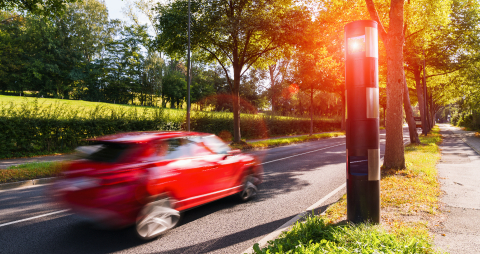 german speed control camera or car trap - Stock Photo or Stock Video of rcfotostock | RC-Photo-Stock