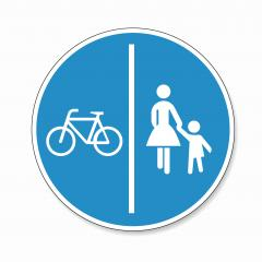 German traffic sign bicycle pedestrian area. Road sign, pedestrian and bicyclist icon on white background. Vector illustration. Eps 10 vector file.- Stock Photo or Stock Video of rcfotostock | RC-Photo-Stock
