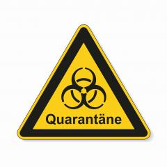 German word quarantäne (quarantine) during corona Coronavirus 2019-nCoV. Corona virus quarantine infection attention sign. safety signs, warning Sign, Danger symbol BGV Pandemic concept. Vector Eps10- Stock Photo or Stock Video of rcfotostock | RC-Photo-Stock
