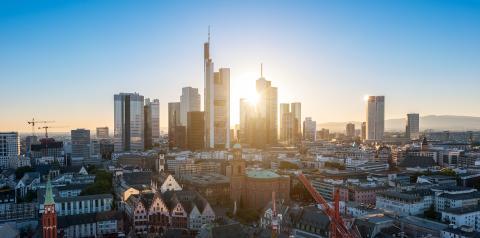Germany Frankfurt am Main skyline sunset- Stock Photo or Stock Video of rcfotostock | RC-Photo-Stock