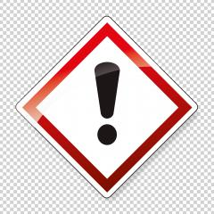 GHS hazard pictogram - CAUTION , health hazard warning sign on checked transparent background. Vector illustration. Eps 10 vector file. : Stock Photo or Stock Video Download rcfotostock photos, images and assets rcfotostock | RC-Photo-Stock.: