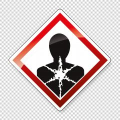 GHS hazard pictogram - LONGER TERM HEALTH HAZARD , hazard warning sign LONGER TERM HEALTH HAZARD on checked transparent background. Vector illustration. Eps 10 vector file. : Stock Photo or Stock Video Download rcfotostock photos, images and assets rcfotostock | RC-Photo-Stock.: