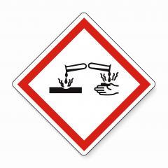 GHS05 hazard pictogram - CORROSIVE , hazard warning sign CORROSIVE on white background. Vector illustration. Eps 10 vector file.- Stock Photo or Stock Video of rcfotostock | RC-Photo-Stock