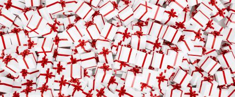 Gift background for Christmas with a bunch of gifts in red white : Stock Photo or Stock Video Download rcfotostock photos, images and assets rcfotostock | RC-Photo-Stock.: