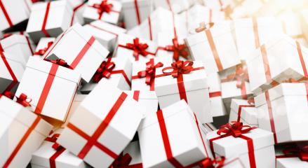 Gift boxes with red ribbons : Stock Photo or Stock Video Download rcfotostock photos, images and assets rcfotostock | RC-Photo-Stock.: