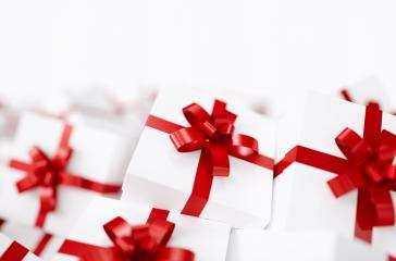 Gift boxes with red ribbons with copy space for individual text : Stock Photo or Stock Video Download rcfotostock photos, images and assets rcfotostock | RC-Photo-Stock.: