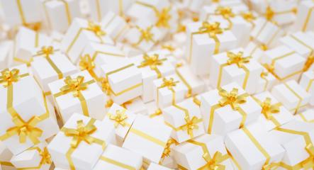 Gifts background for Christmas with many golden bows : Stock Photo or Stock Video Download rcfotostock photos, images and assets rcfotostock | RC-Photo-Stock.: