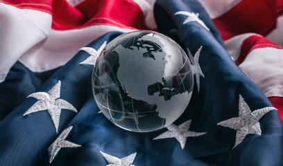 Glass globe with American Flag : Stock Photo or Stock Video Download rcfotostock photos, images and assets rcfotostock | RC-Photo-Stock.: