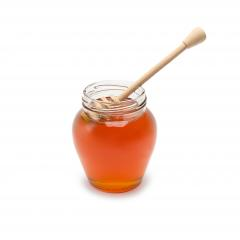 glass jar with honey dipper- Stock Photo or Stock Video of rcfotostock | RC-Photo-Stock