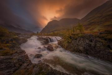 Glencoe Wasserfall im Herbst, Schottland, Vereinigtes Königreich : Stock Photo or Stock Video Download rcfotostock photos, images and assets rcfotostock | RC-Photo-Stock.: