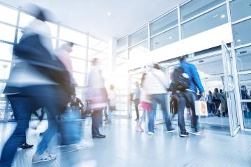 global consumer crowd rushing at a entrance- Stock Photo or Stock Video of rcfotostock | RC-Photo-Stock