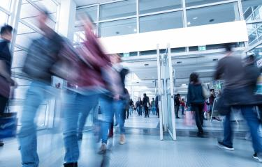 Global Tradeshow Visitors in rush- Stock Photo or Stock Video of rcfotostock | RC-Photo-Stock