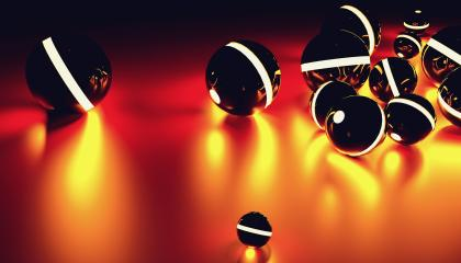 Glowing sphere balls in random position with light effect, including Copy space -futuristic background - 3D rendering- Stock Photo or Stock Video of rcfotostock | RC-Photo-Stock