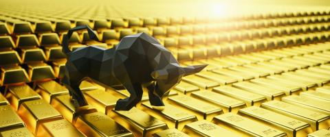 Gold bars, price of gold on the stock exchange is rising, Financial concept image, banner size- Stock Photo or Stock Video of rcfotostock | RC-Photo-Stock