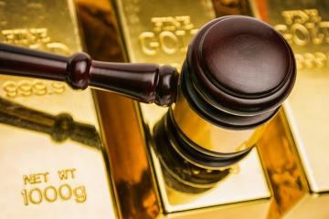 gold bars with auction gavel - Stock Photo or Stock Video of rcfotostock | RC-Photo-Stock